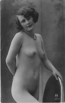 French NUDE real photo postcard circa 1920 M1073