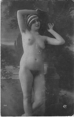 French NUDE real photo postcard circa 1920 Jean AGELOU A128