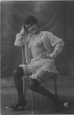 French NUDE real photo postcard circa 1920 Jean AGELOU A012