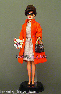 """Audrey Hepburn in Cat Mask Outfit Barbie Doll Just Deboxed NO BOX Tiffany's """""""