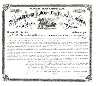 National Petroleum Mutual Fire Insurance Company...reserve Fund Certificate