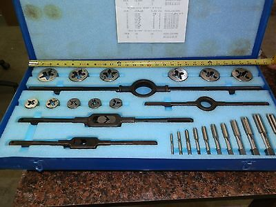 greenfield tap and die set 1/4 to 1 inch fine thread
