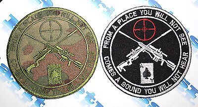 Military Sleeve Patch Sniper Swat Set 2 Patches Embroidered