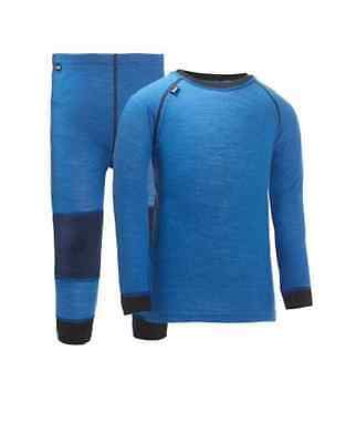 HELLY HANSEN Warm Infants Blue Merino Wool 2 Piece Baselayer Set 2 Years BNWT