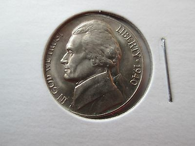 1940-D Jefferson Nickel. A beautiful Full Steps Uncirculated coin.