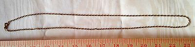 HIGH KARAT (18 OR HIGHER) LADIES NECK CHAIN 14 INCHES LONG, 17.9 g.