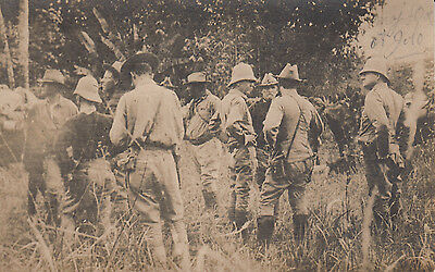Original RPPC Photo GENERALS WOOD & BLISS at BATTLE BUD DAJO Philippines 1906
