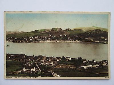 Vintage Postcard - Deganwy From Conway Mountain , North Wales .