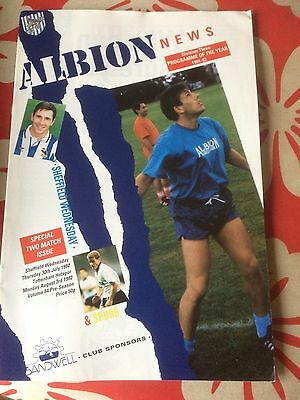 West Bromwich Albion v Sheffield Wednesday & Tottenham Hotspur 1992 Friendly