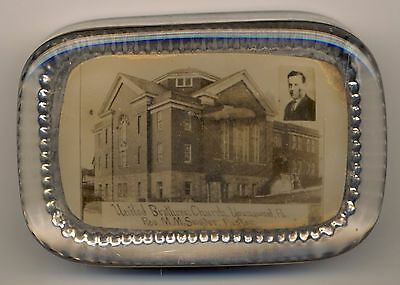 United Brethren Church Youngwood, Pa Rev. Snyder Antique Glass Paperweight