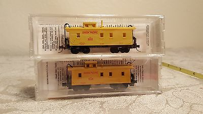 Micro trains N scale set of 2 Union Pacific Cabooses #50100 NIB
