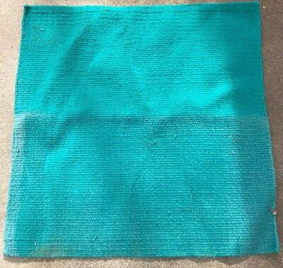 Horse Wool Western Show Trail SADDLE BLANKET Rodeo Pad Rug Turquoise