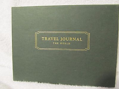 Land's End The World Travel Journal, Leather, Quality, Vintage, Gold