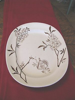Antique Brown Transfer Ware Aesthetic Movement Platter ***on Sale***