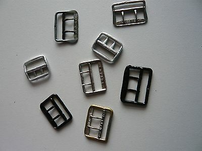 Lot of 8 Small 2.5cm to 3cm Vintage Buckles