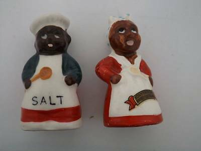 "Vintage Black Americana JAPAN AUNT ""JEMIMA & UNCLE MOSE"" Salt & Pepper S"