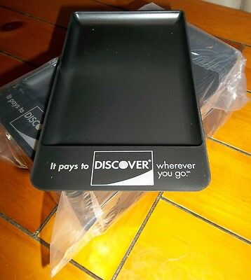 25 NEW Discover Mastercard Visa Check Presenter Tip Trays Plastic FREE SHIPPING