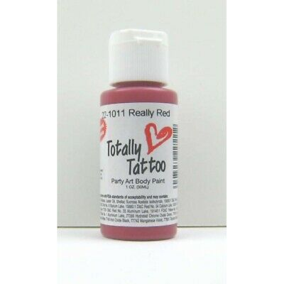 (45,49€/100ml) Badger Really Red (Rot) Body Paint  30ml. 22-1011 Tattoo Airbrush
