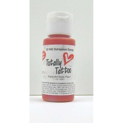 (48,09€/100ml) Badger Outrageous orange Body Paint  30ml. Tattoo Airbrush Farbe