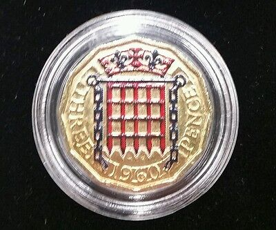 Changing Face Three Pence 24k gold plated 1960