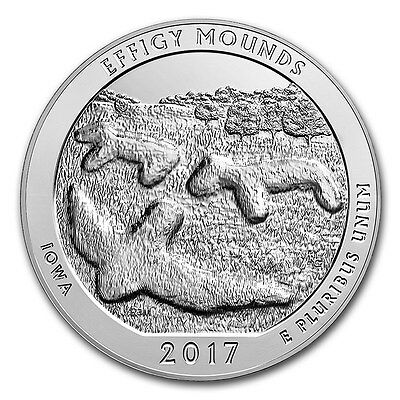 2017 5 oz Silver ATB Coin Effigy Mounds National Monument, Iowa - SKU #132413