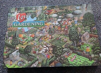 Mike Jupps I Love Gardening 1000 Piece Jigsaw By Gibsons