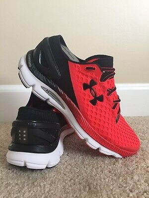 Men's Under Armour Speedform Gemini 2 Running Shoe, Red/Black/White, Size 8.5
