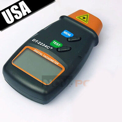 Quality Digital Laser Photo Tachometer Non Contact RPM Tach for Motor Industrial