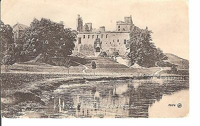 Linlithgow palace and loch early postcard