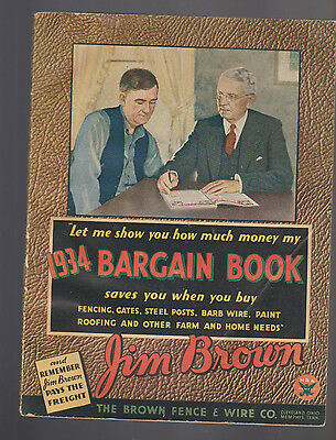 Jim Brown 1934 Bargain Book Brown Fence & Wire Co ASBESTOS