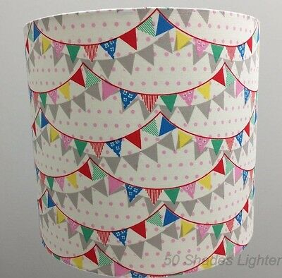 Pretty Colourful Hand Crafted 30 Cm Bunting Light Shade