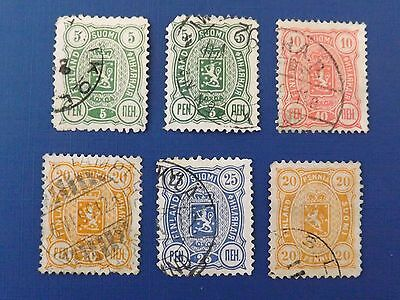 1889 Finland,  Coat of Arms used stamps