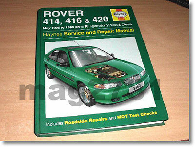 **haynes Manual - Rover 414, 416 & 420 -  1995 To 1998 (M To R Reg) - Ref 3453**