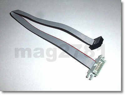 ** 10 WAY RIBBON CABLE WITH IDC MALE/FEMALE CONNECTORS - 10cm/20cm/30cm/40cm **