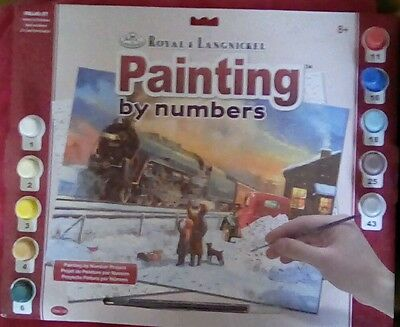 Paint by numbers steam train