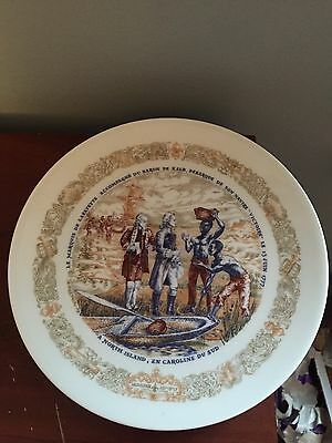 Limoges Lafayette Legacy North Island Landing Collectible Plate