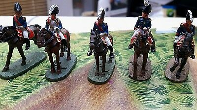 Napoleonic Wars 1.72scale Metal cast 5 mounted officer's