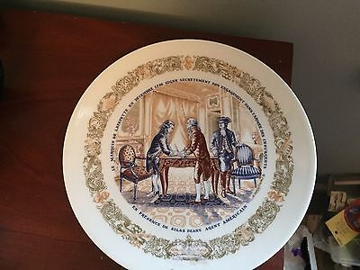Limoges Lafayette Legacy Secret Contract Collectible Plate