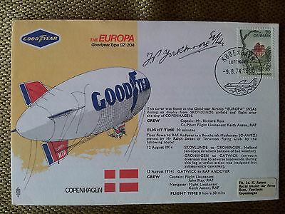 Goodyear Airship cover. Signed.