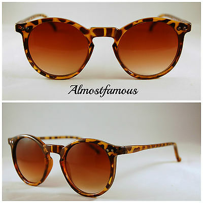 80s Retro fashion sunglasses tortoise vintage remade keyhole round indie hipster