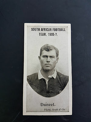 RARE - TADDY 1906 cigarette tobacco card SOUTH AFRICAN FOOTBALL TEAM Daneel