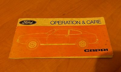 VINTAGE 1976 9th EDITION FORD CAPRI OPERATION & CARE BOOKLET.