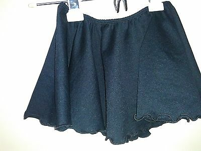 Girls Teen Black Dance Skirt Ballet Child 12-14