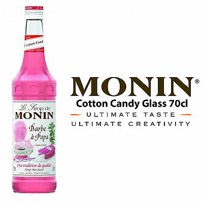 MONIN Coffee Syrups - 70cl Glass COTTON CANDY Syrup - USED BY COSTA COFFEE