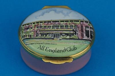 LIMITED EDITION 500 Crummles WIMBLEDON TENNIS All England Club  Enamel Box MINT