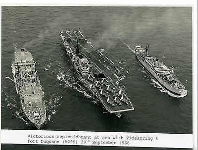 Royal Navy, Original Photo, HMS Victorious, R38, 1968, Aircraft Carrier & RFAs