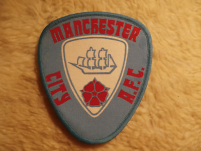 @ VINTAGE SEW ON PATCH - MANCHESTER (blue) - NEW OLD STOCK