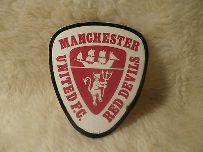 @ VINTAGE SEW ON PATCH - MANCHESTER (Red & White)