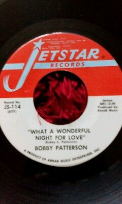 Bobby patterson, A side, what a wonderful night for love, B side, T. C.B,or T.Y.