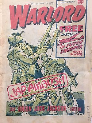 WARLORD Comic - Issue 3 - Date 12/10/1974 - UK Paper Comic from D C Thomson & Co